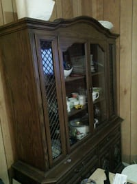 brown wooden framed glass display cabinet Brampton, L6X 2T9