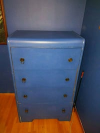 blue wooden 4-drawer chest Calgary, T3E 1R3