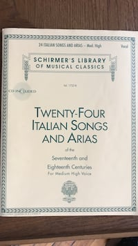 Twenty-Four Italian Songs and Arias of the Seventeenth and Eighteenth Centuries book