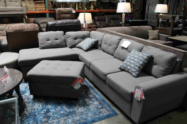 Used Sectional Sofa **OTTOMAN NOT INCLUDED**, Grey # 500413 for sale ...