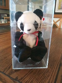 """rare collectible beanie baby """"fortune"""" the panda"""
