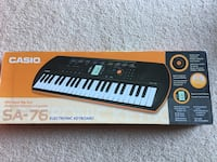 Casio SA 76 electronic keyboard  Falls Church, 22043