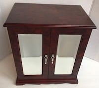 Black wooden jewelry chest with mirror Vancouver, V6A 0C5