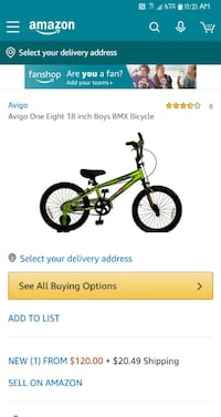 18in Avigo BMX Bike Daphne, 36526