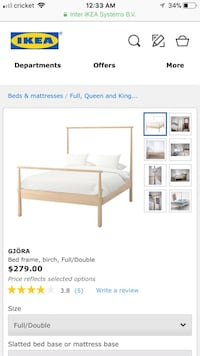 IKEA bed frame (full /double) - perfect condition! Los Angeles, 90065