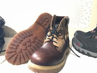Pair of brown leather work boots size 8 Edmonton, T5H