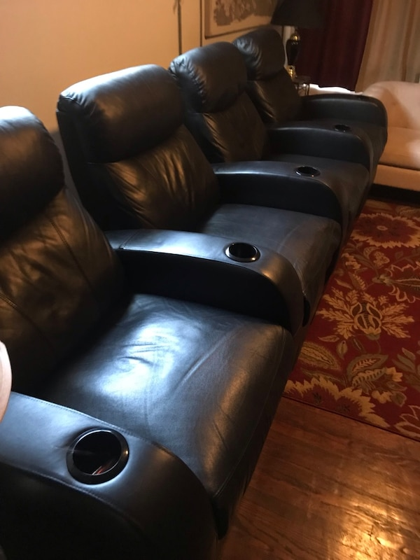4 leather Theater seats