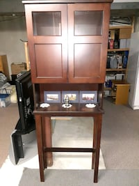 Wood wall cabinet - great condition