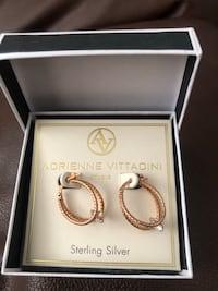 BRAND NEW - Adrienne Vittadini Sterling Silver Earrings Calgary, T2Y 2Z8