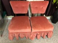 2 Rose Velvet Chairs Sherwood Park, T8A 1Y5