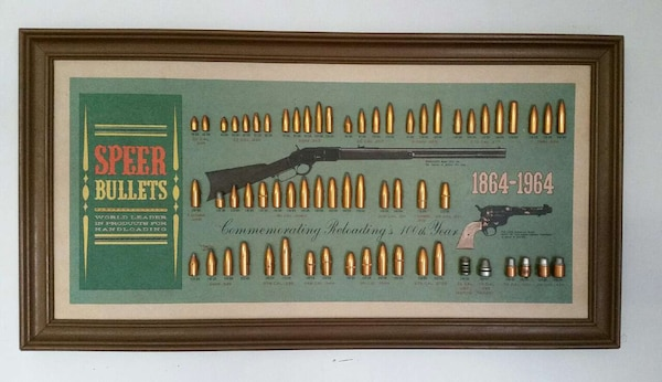 Speer Bullets Commemorative Bullet Board complete