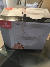 two white Globe brand dome lights box Montréal, H8Y 3J5