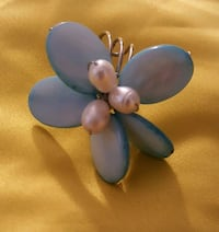 Blue and Pearl Flower ring Clermont, 34711