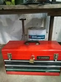 Husky tool box, with tools