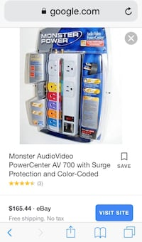 Monster power surge protector  39 km