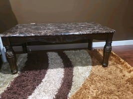 Brown color 3 pc table set