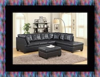 Black sectional with ottoman 67 km