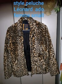 brown and black leopard print coat Montréal, H1W 1V5
