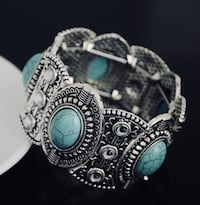 silver and blue gemstone ring Providence, 02906