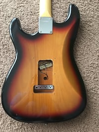 brown and white stratocaster electric guitar San Jose, 95118