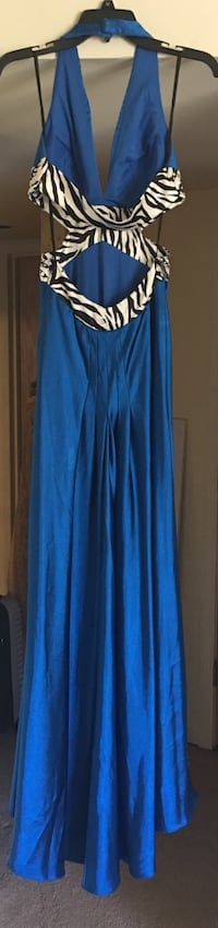 Royal Blue cut-out waist long party dress Size 3-5 Schaumburg, 60193