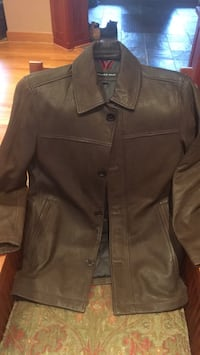 brown leather button-up jacket Fairfax, 22031
