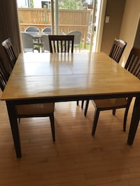 Solid wood kitchen table and 5 chairs  Edmonton