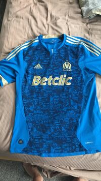 Marseille home soccer jersey large