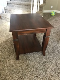 Wood End Table Lake Forest