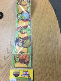 green and brown owl print border Trim Kissimmee, 34744