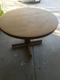 Wooden Round Table with Stand