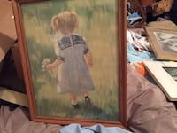 brown wooden framed painting of woman in white dress Nutter Fort, 26301