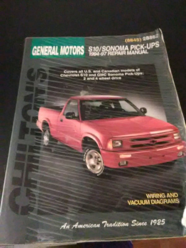 1997 s10 l4 2 vacuum diagram wiring schematic used repair manual for sale in fayetteville letgo  used repair manual for sale in