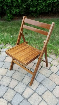 Vintage Folding Wooden Chair Pointe-Claire