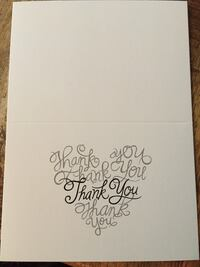 Thank you cards - 55 brand new with envelopes Langley, V3A 6L5