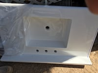White  cultured marble sink Tucson, 85730