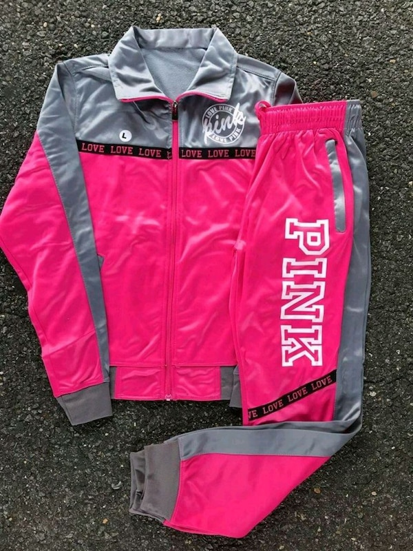 PINK 2PC TRACK SUITS