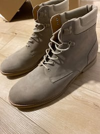 Beige leather Zara boots size 12