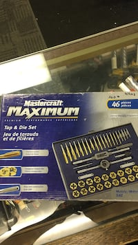 MASTERCRAFT MAXIMUM TAP & DIE SET 46 PIECES Calgary, T2G 5J5