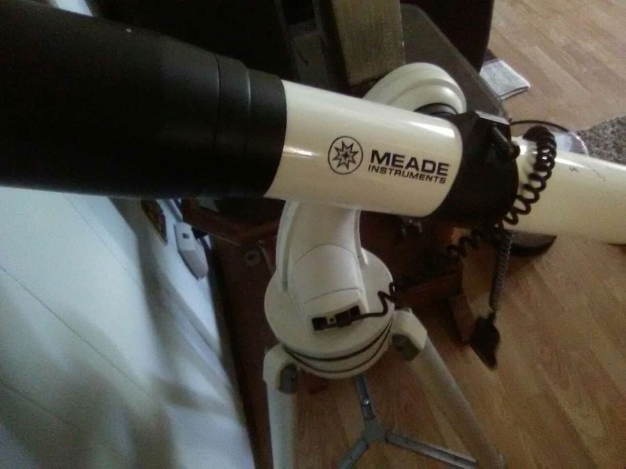 white and black MEADE telescope for sale  Fort Assiniboine