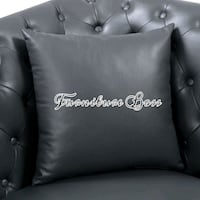 black leather tufted sofa chair Lake Elsinore, 92530