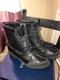 pair of black leather boots Bristow, 20136