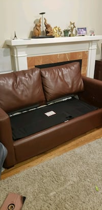 Faux leather sofa bed Vancouver, V6J 2E7