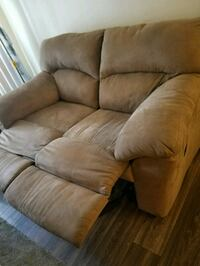 Suede recliner couch /smoke,pet FREE Las Vegas, 89123