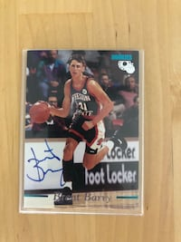 Brent Barry autographed rookie card  Los Angeles, 90034