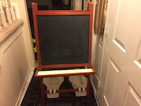Wooden easel and chalk board with storage  Manassas, 20110