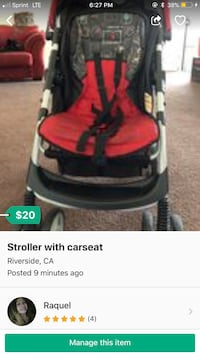 red and black jogging stroller screenshot Riverside, 92503