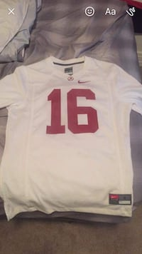 white and red Nike 16 v-neck jersey shirt screenshot Tuscaloosa, 35401