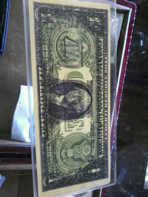 $1 bill currency