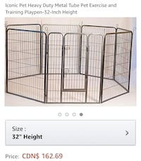 New, unused..Iconic Pet Heavy Duty Metal Tube Pet Exercise Pen
